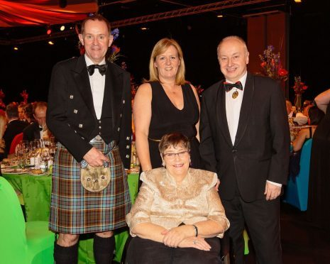 Clan chairman Kenny Anderson, Clan chief executive Dr Colette Backwell, Lord Provost of Aberdeen George Adam and Dame Anne Begg
