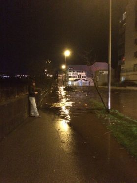 Riverside Drive is among the streets that has been evacuated after the River Dee burst its banks (Picture submitted by Ian Rose)