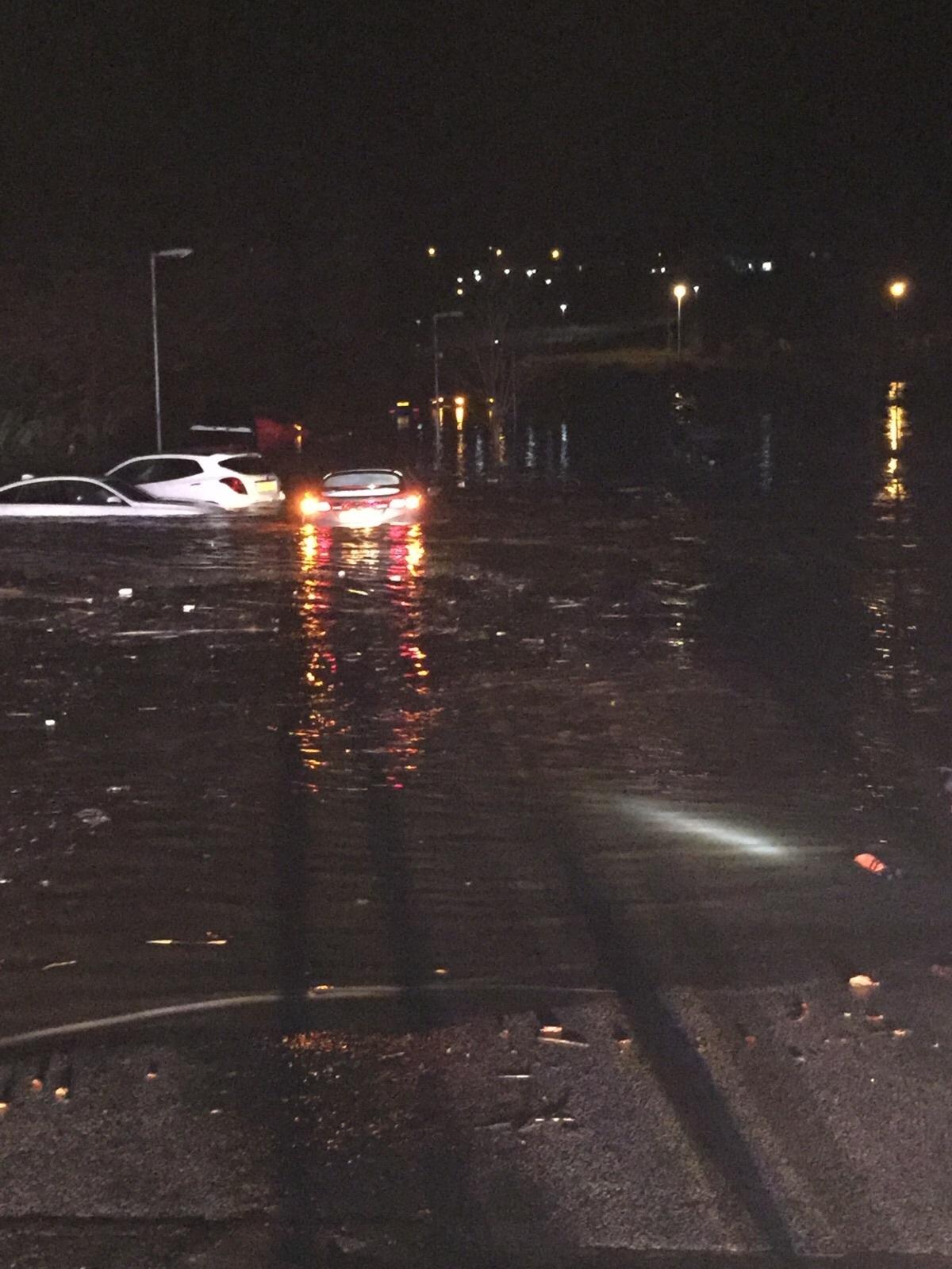 The David Lloyd gym on Garthdee Road has now flooded