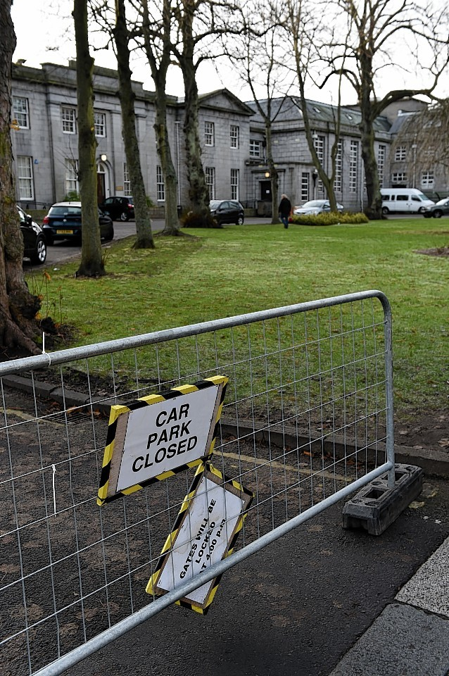 Harlaw Academy was temporarily closed following the incident