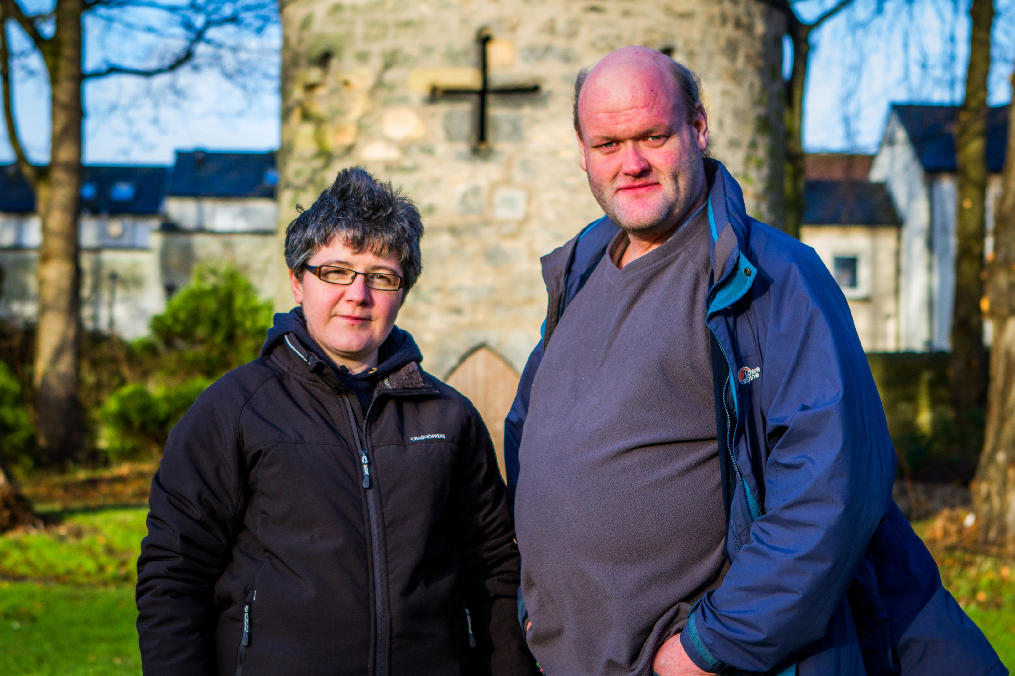 Picture of Susan Cord and husband James Bissett to accompany story about them being ordained as ministers in the Presbytery of Ross.