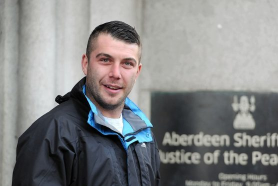 Lee McAllister leaves Aberdeen Sheriff Court