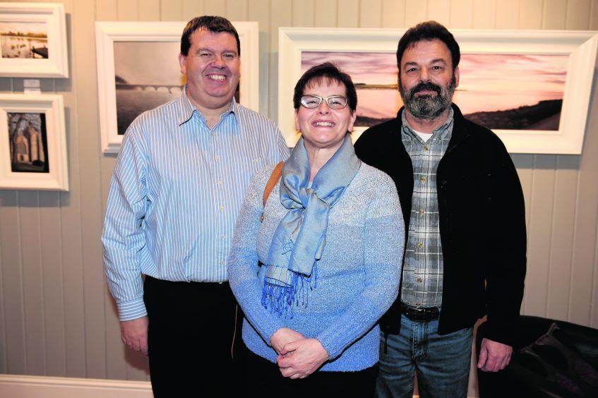 Jim Porter, Iona and Mike Barrio.