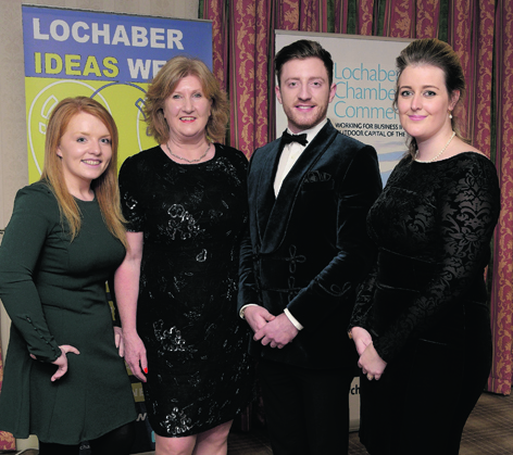 Guest speaker Christian MacLean with Nikki MacKinnon, Lesley Benfield and Sarah-Jane Jamieson