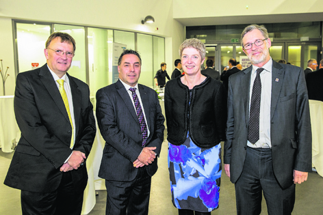 Paul Johnson, Stephen Archer, Shona Cormack and Professor Ferdinand von Prondzynski