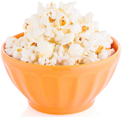 The lining in microwaveable  bags of popcorn contain a carcinogenic acid