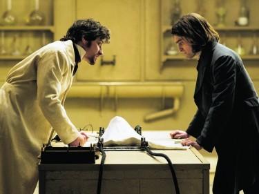 James McAvoy, left, and Daniel Radcliffe in Victor Frankenstein