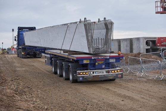 The massive 27-tonne steel beams due to pass through Aberdeen