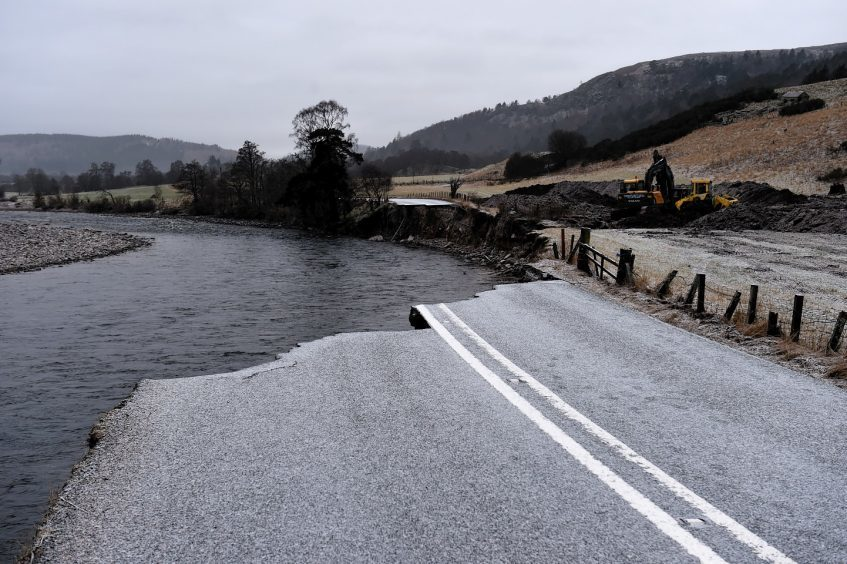 Ballater was one of the worst hit areas by the Storm Frank floods