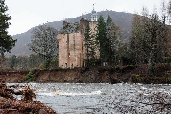 Abergeldie Castle on the banks of the River Dee