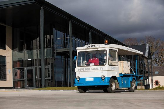 The upcycled, electric powered milk float