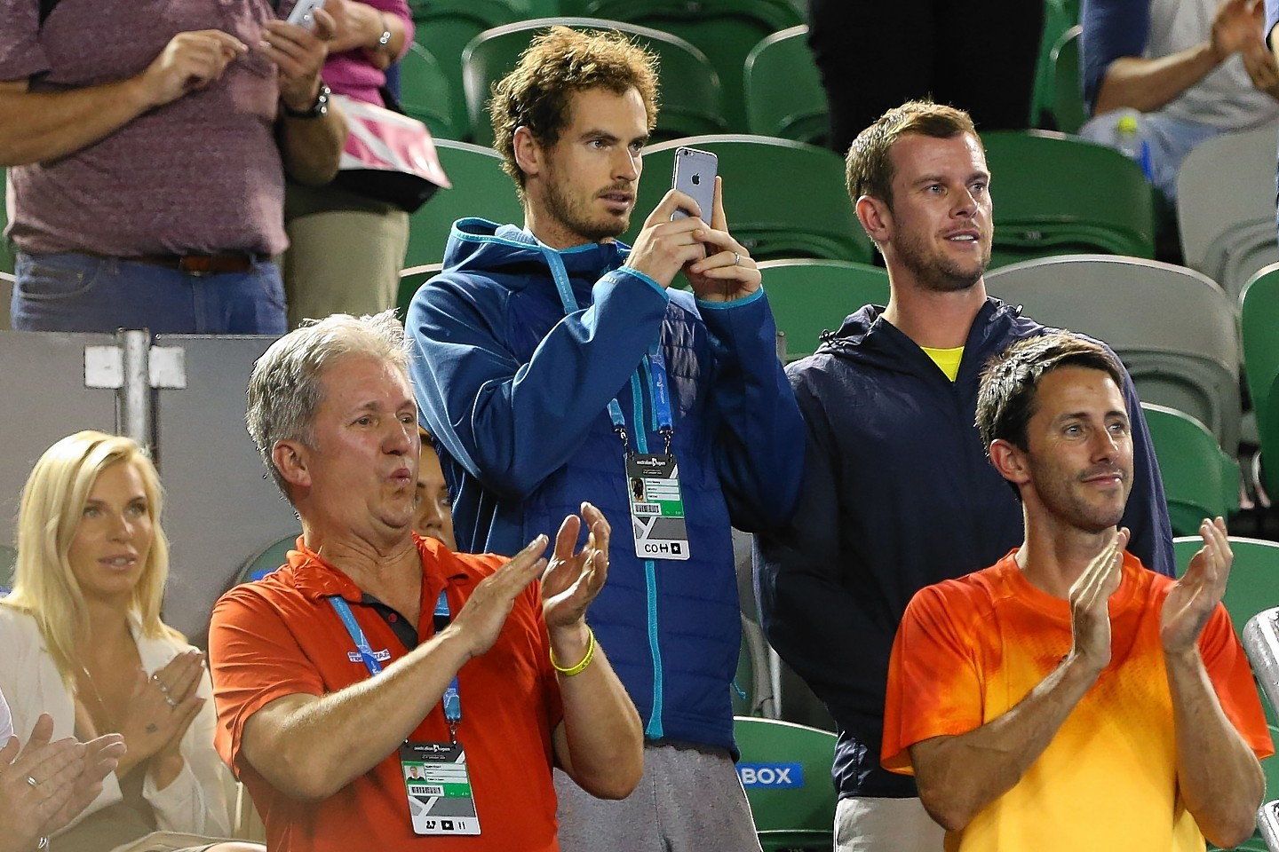 Murray was in the crowd, taking pictures as his brother, Jamie, won the male doubles title at the start of the weekend