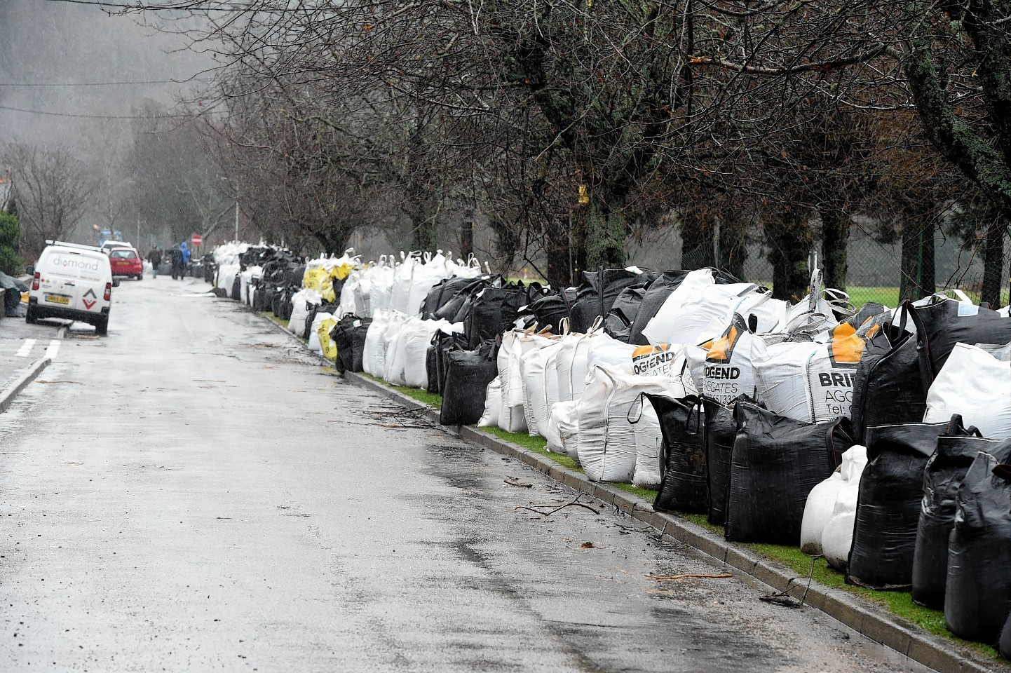Heavy bags left near the golf course. Picture by Jim Irvine