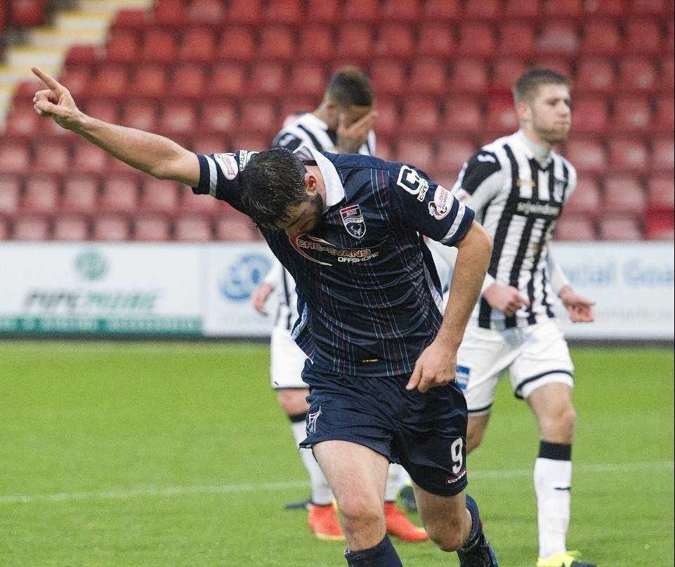 Brian Graham netted a hat-trick against Cove Rangers.