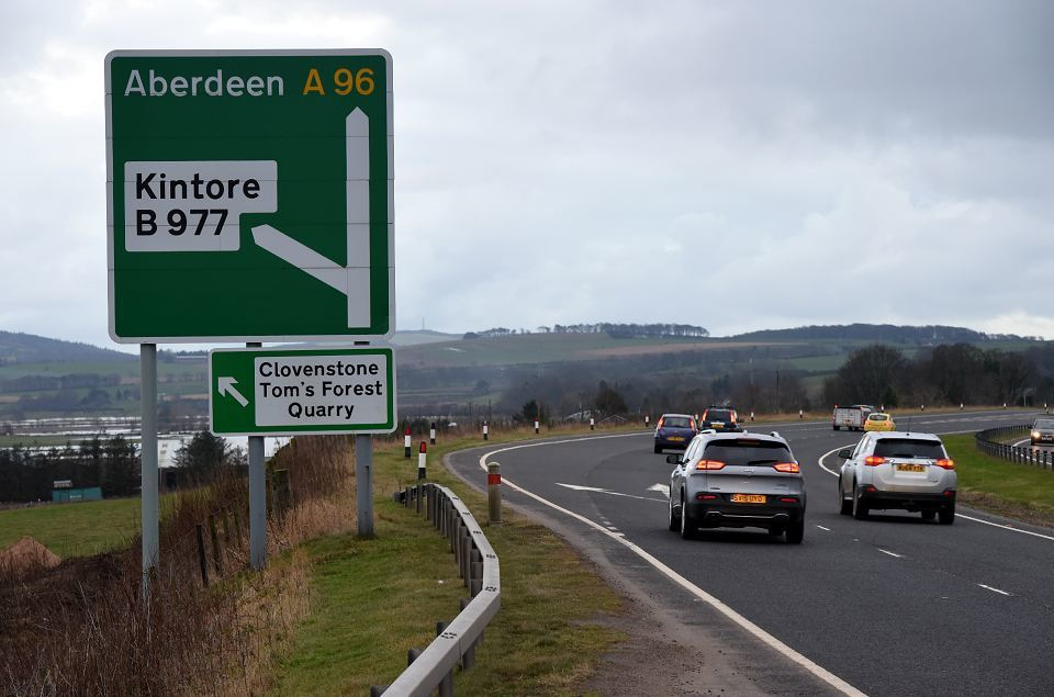 The cycleway will connect Kintore to Inverurie at Thainstone along the A96