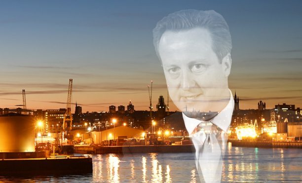 David Cameron was in Aberdeen to announce the deal yesterday