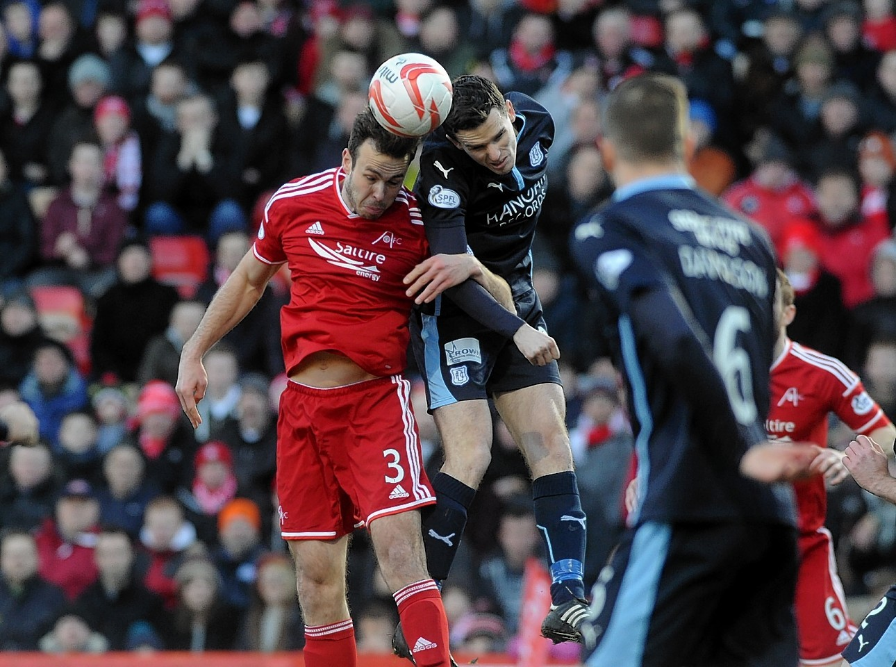 The Dons face Dundee at Dens Park on Sunday.