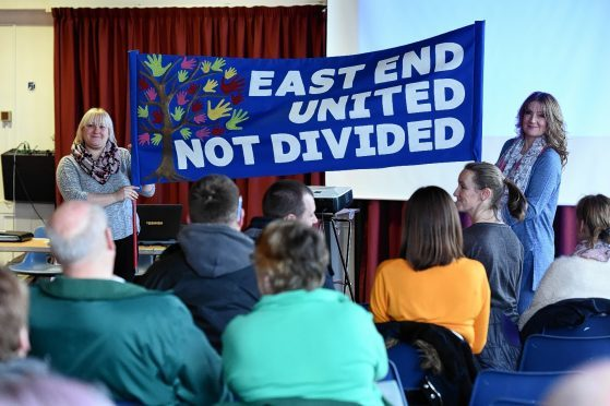 Consultation meeting at Elgin Town Hall. Picture by Gordon Lennox