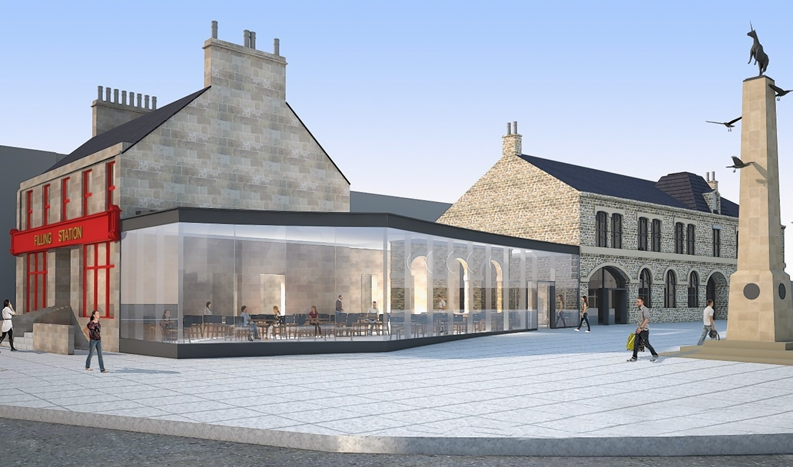 The rejected artist's impression of the proposals for the Filling Station in Inverness.