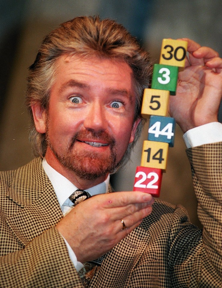 Noel Edmonds at the launch of the National Lottery in 1994.