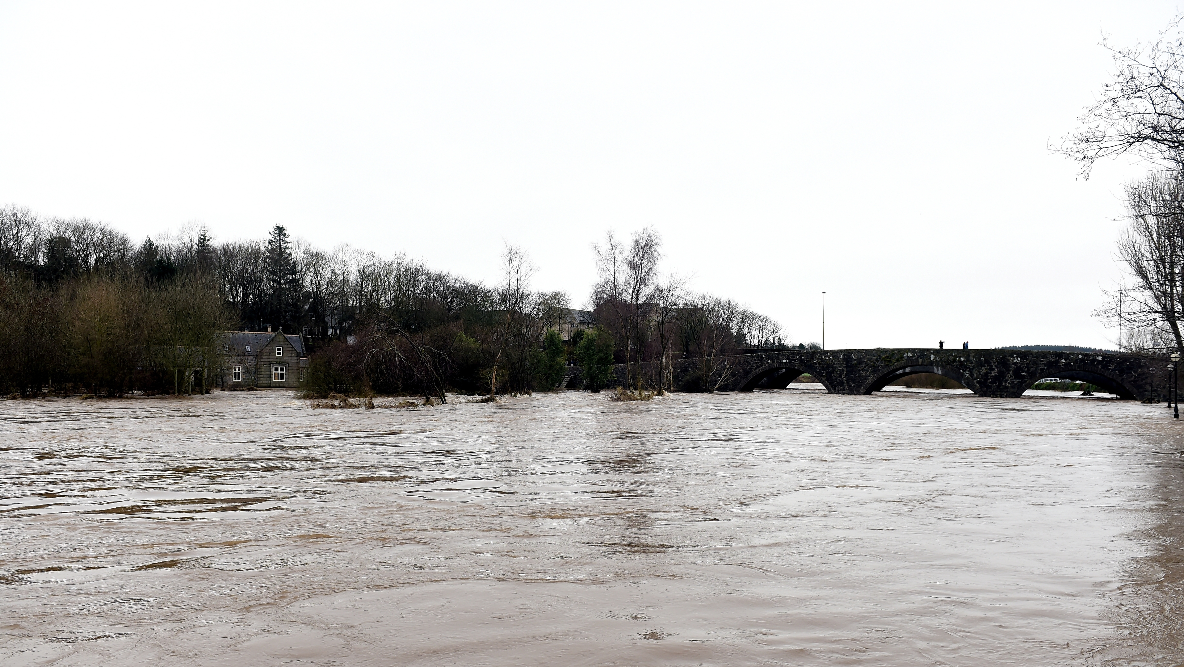 The River Ythan recently burst its banks at Ellon.