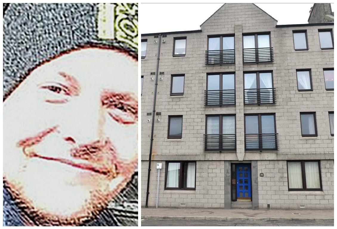 James Chadwick, left, was killed in an Aberdeen flat.