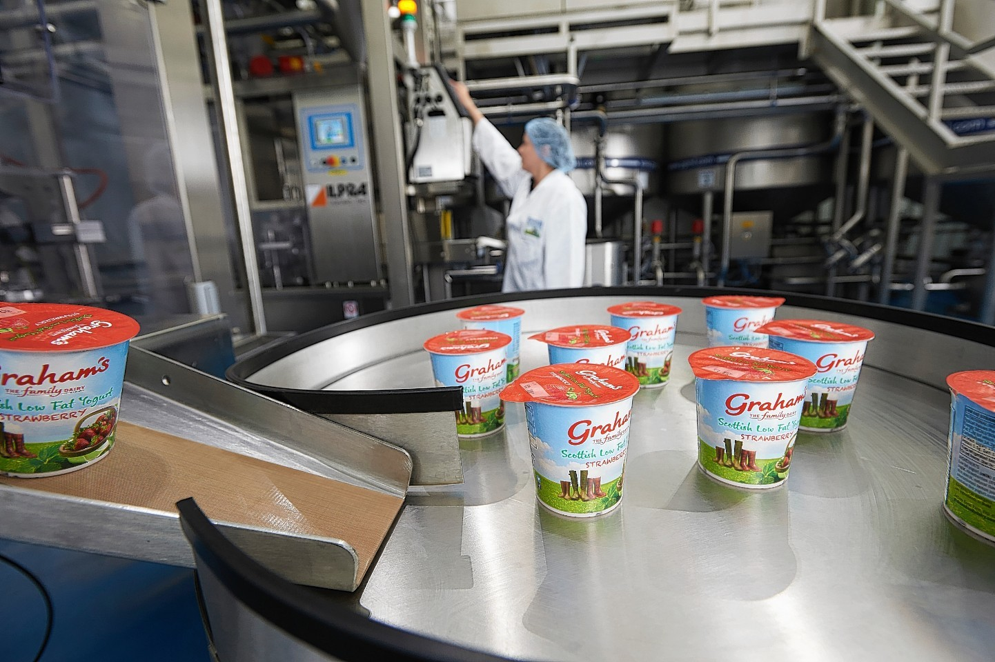 Yogurt being produced at the Nairn site
