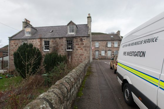 A man died after the house fire in Helmsdale