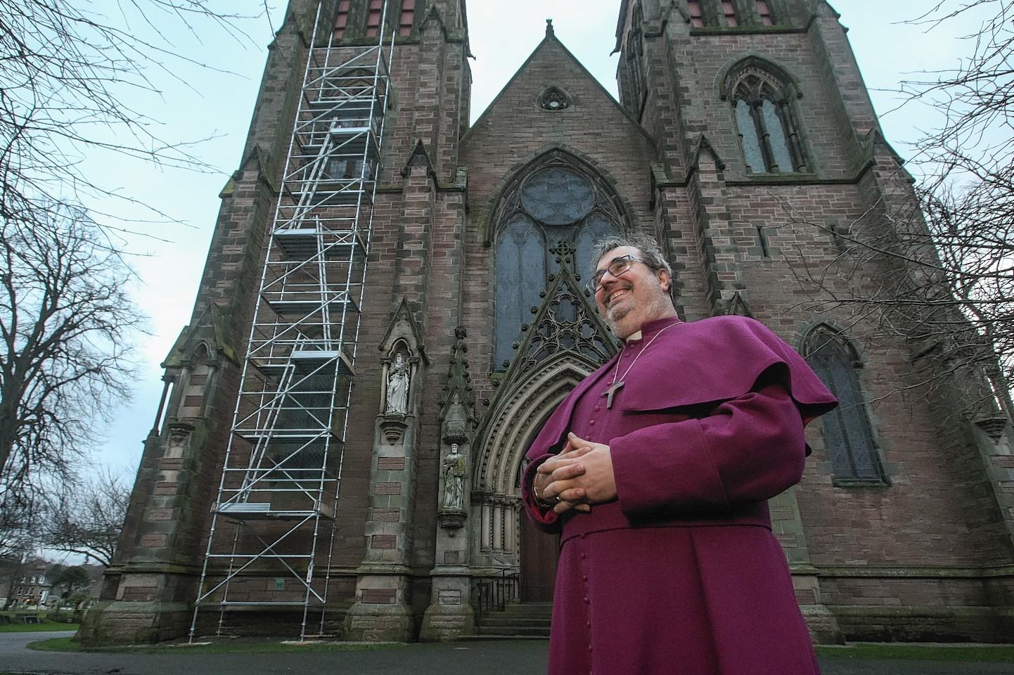Bishop Mark Strange at Inverness Cathedral