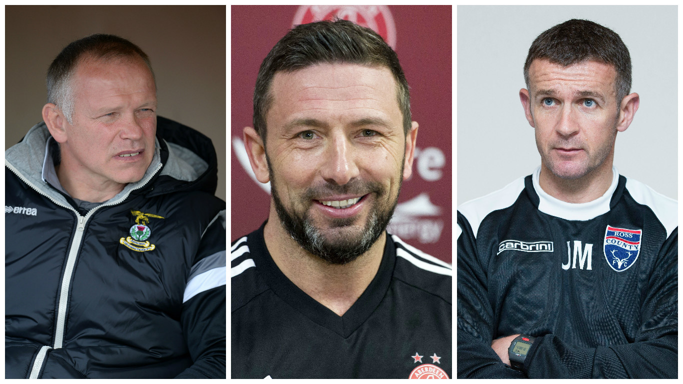 Will John Hughes, Derek McInnes and Jim McIntyre be busy this month?