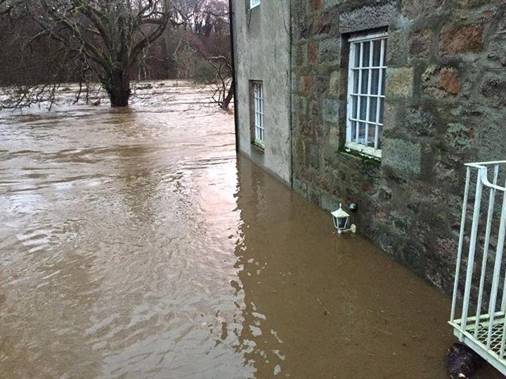 The flooding at Kettocks Mill, Bridge of Don. Credit: Scott Cruickshank