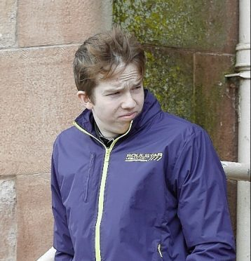 Lewis John Hall leaves Inverness Sheriff Court