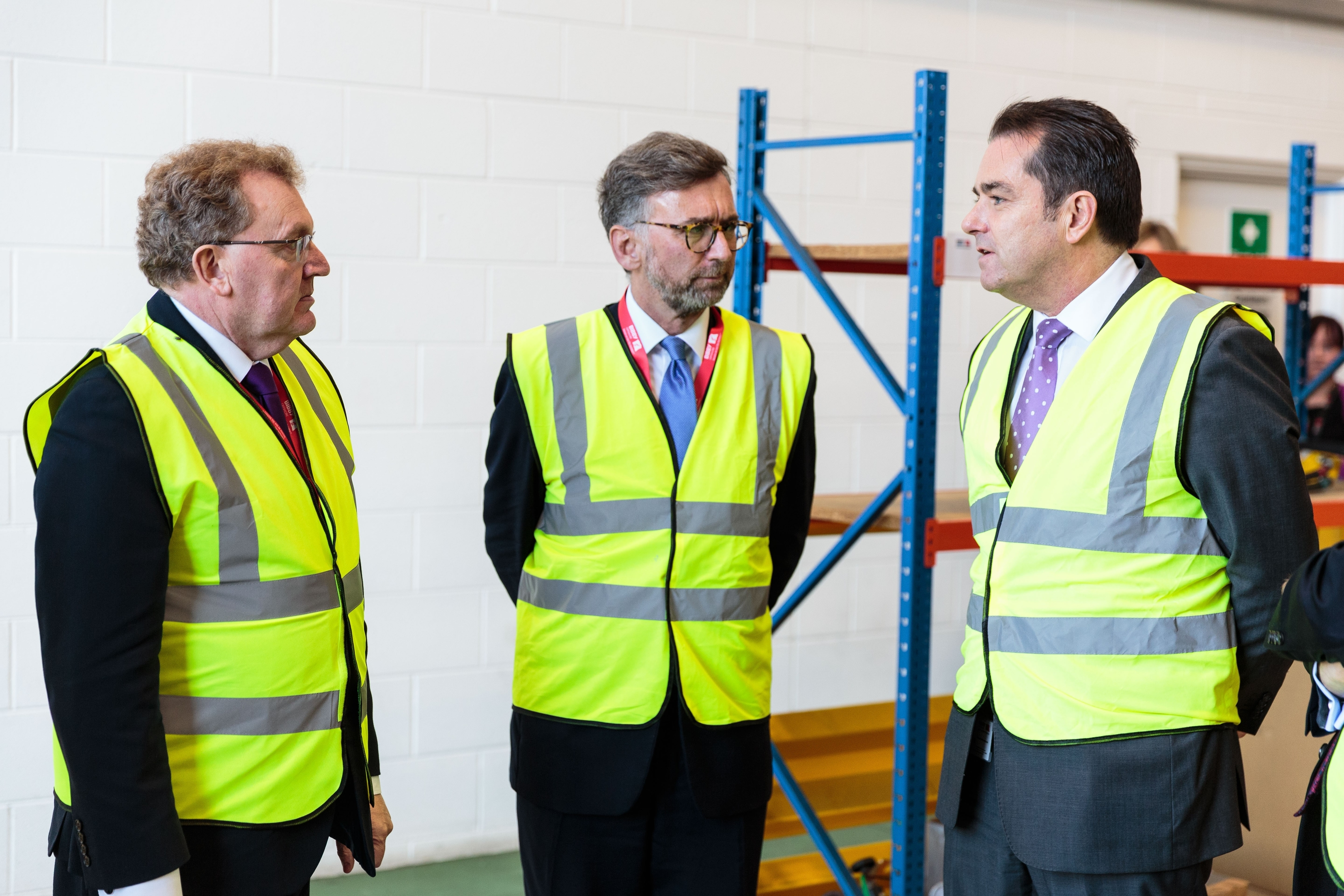 David Mundell, Secretary of State for Scotland, Lord Andrew Dunlop, Under Secretary of State at the Scotland and Howard Woodcock Chief Executive Bibby Offshore