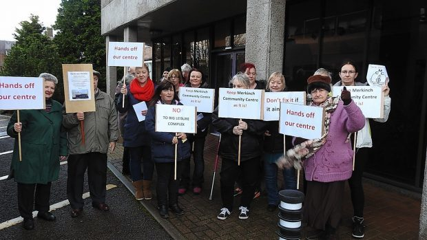 A protest was held by Merkinch residents outside Highland Council HQ to try and prevent the closure