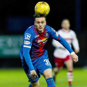 Miles Storey in action for Caley Thistle