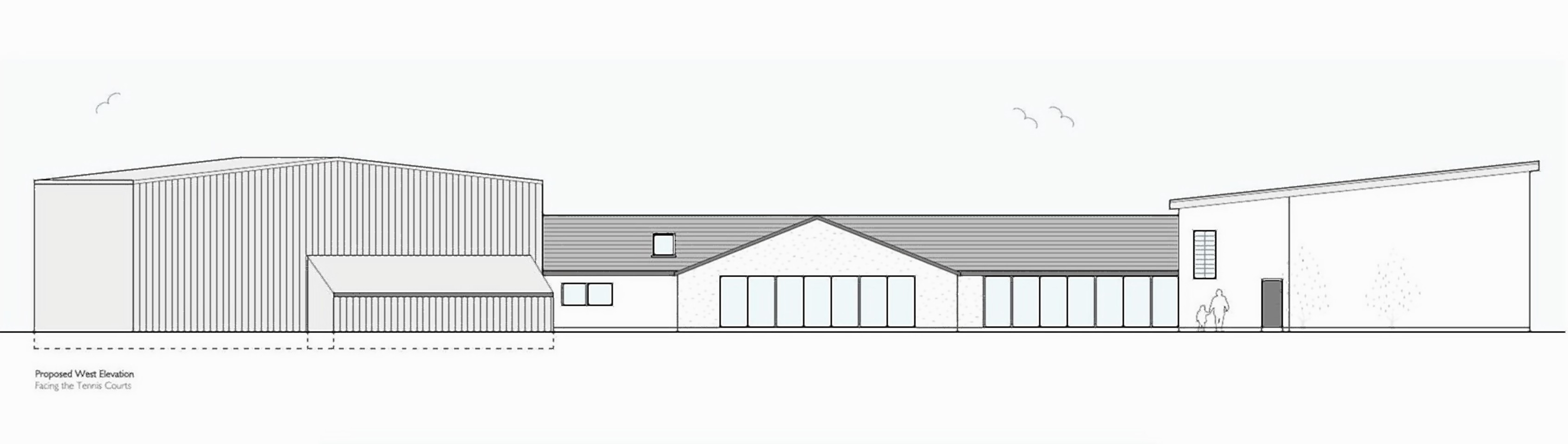 A view of the proposed plan for Nairn Sports Centre courtesy of the Highland Council
