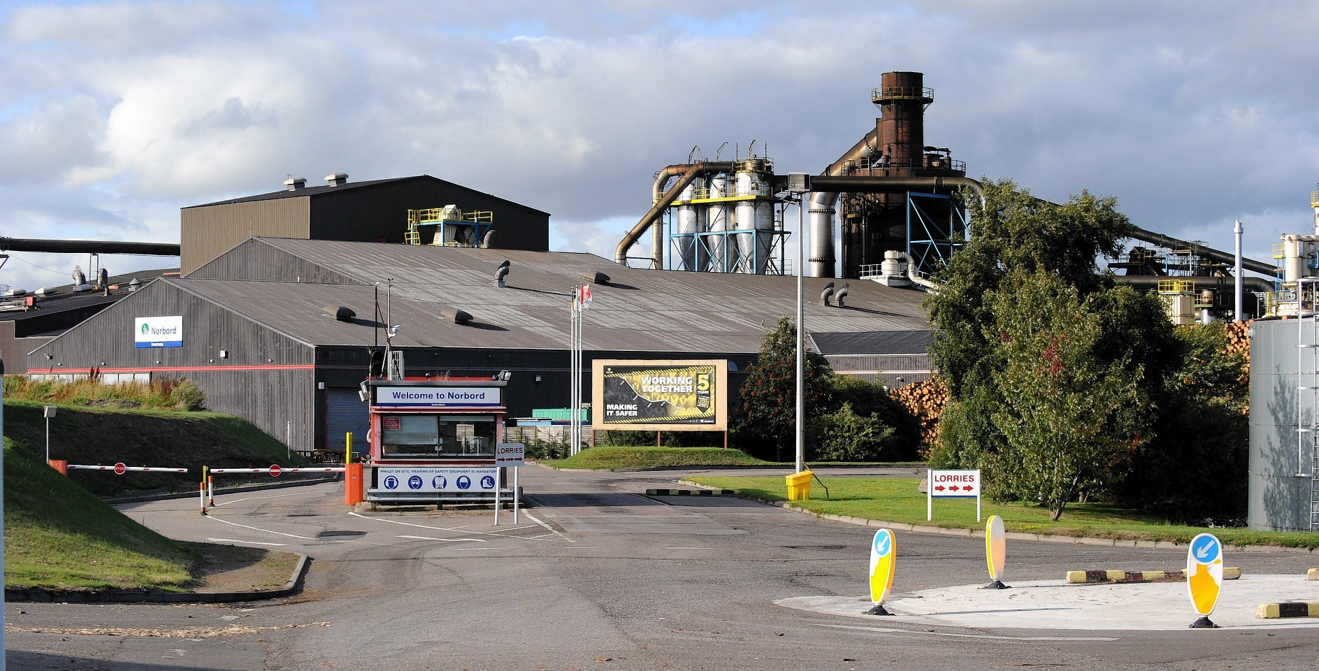 The Norbord factory near Inverness