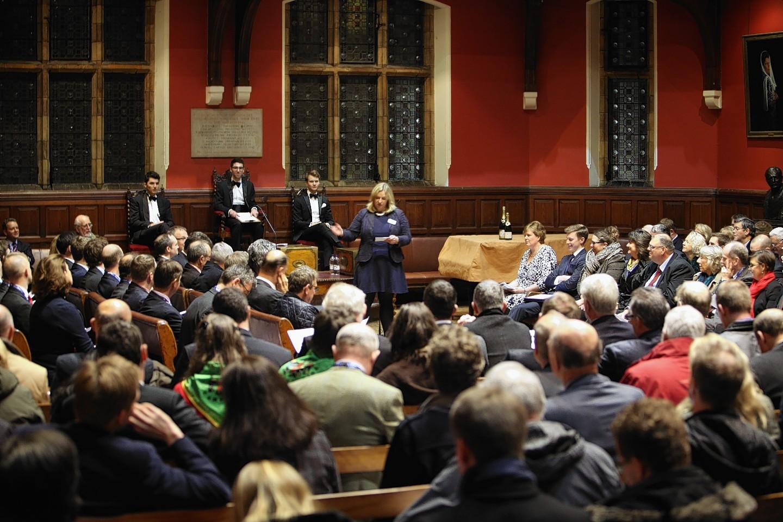 The debate in the historic Oxford Union