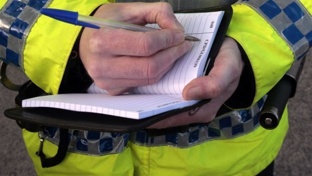 Police Scotland  were on the scene