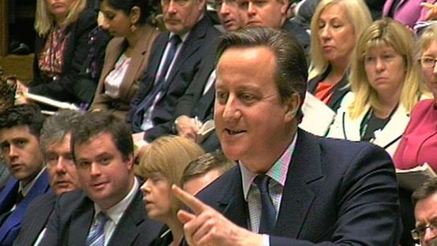 """David Cameron said at PMQs the rise would hit """"hard-working people"""""""