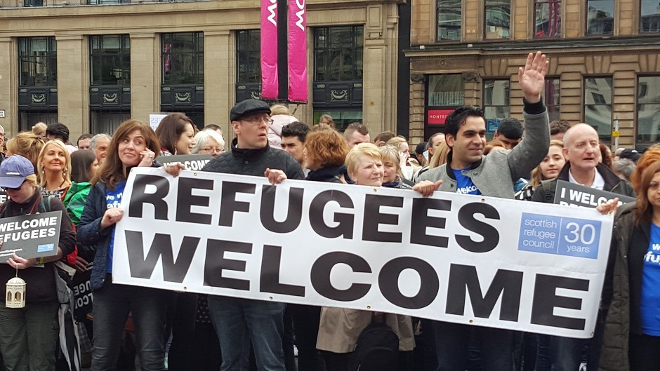 Syrian refugees began arriving in Scotland in November as part of the UK Government's pledge to accept 20,000 by 2020 to help with the refugee crisis