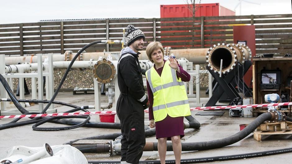 Nicola Sturgeon visited Aberdeen yesterday