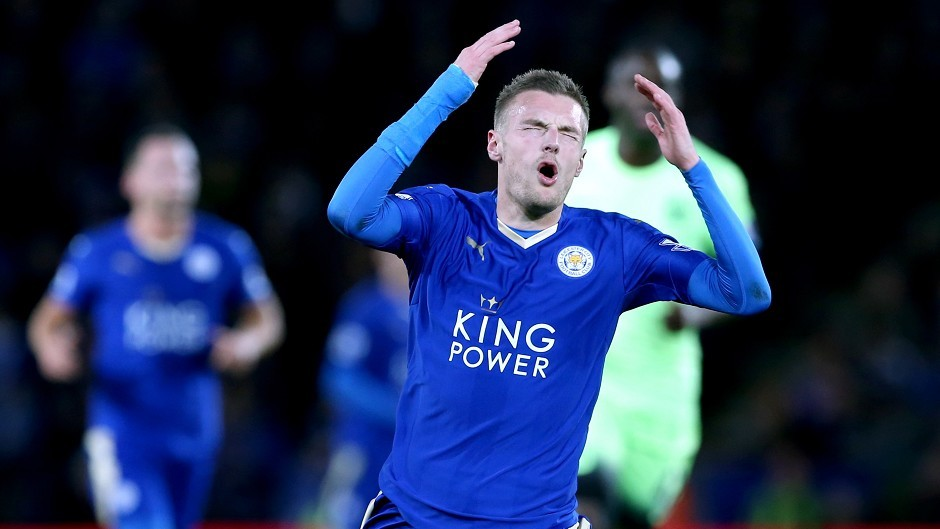 Leicester striker Jamie Vardy could have been plying his trade in Germany