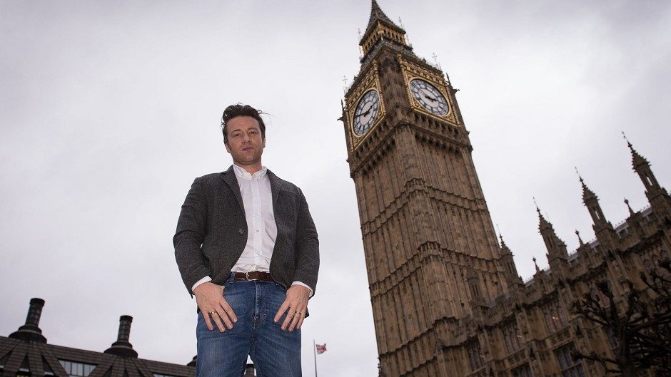 Chef and food campaigner Jamie Oliver