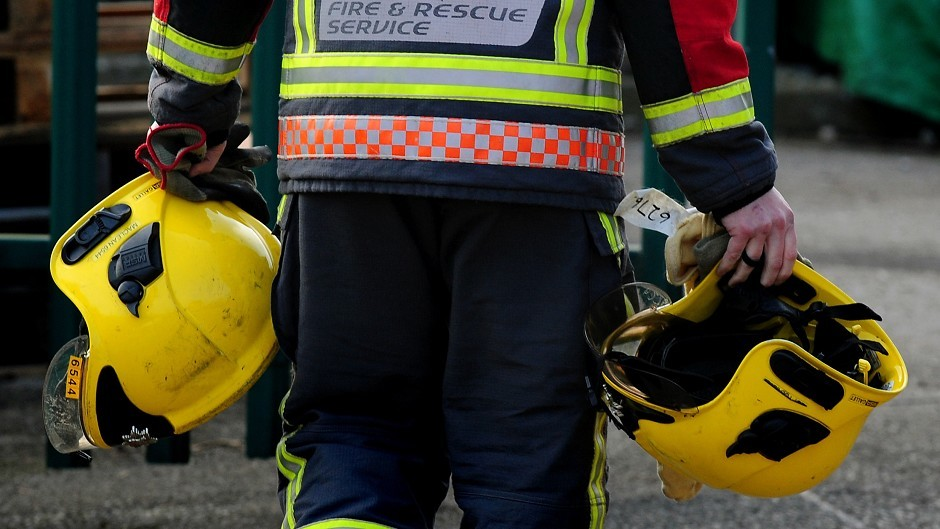 Firefighters have been called to a crash on the A82
