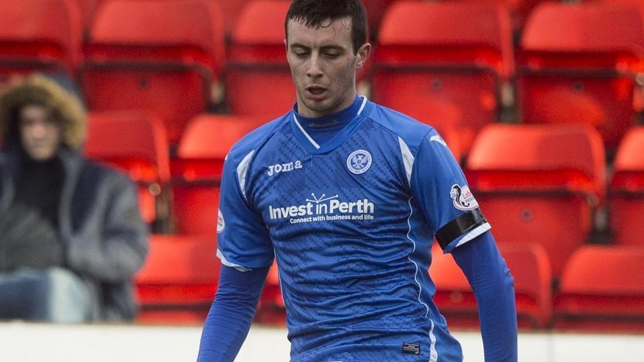 St Johnstone defender Joe Shaughnessy.