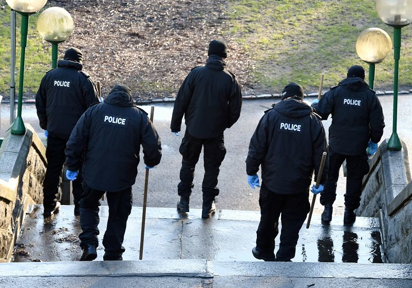 Police carry out inch-by-inch search at UTG