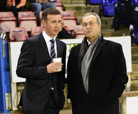 Ross County manager Jim McIntyre with chairman Roy MacGregor.