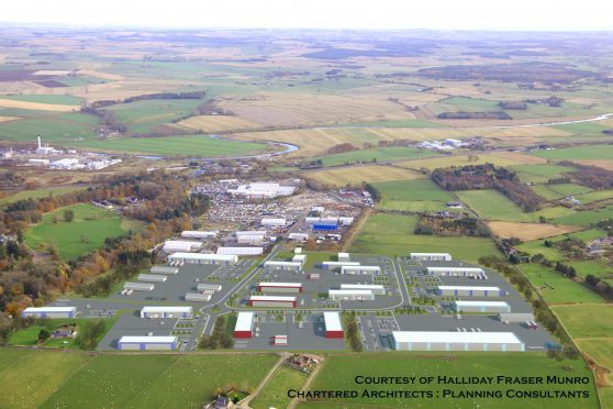 How the Thainstone Business Park could look