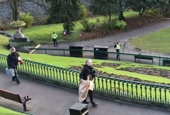 Union Terrace Gardens sealed shut
